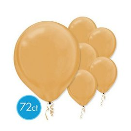 Gold Pearlized Latex Balloons - Packaged, 72ct