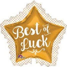 """Best Of Luck Star Balloon, 34"""" (#169)"""