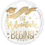 "The Adventure Begins Grad Balloon, 18"""