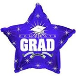 Congrats Grad Star Balloon- Purple, 19""