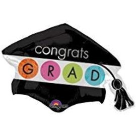 Congrats Grad Cap and Tassel Balloon, 31""