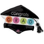 """Congrats Grad Cap and Tassel Balloon, 31"""""""