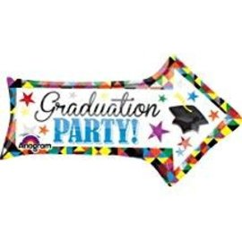"Graduation Party Arrow Balloon, 36"""
