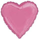 "Bright Bubblegum Pink Heart Balloon, 18"""