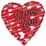 """I Love You Arrows Balloon, 18"""""""