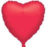 """Metallic Red Heart Balloon, 18"""""""