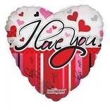 "I Love You Heart Balloon, 18"""