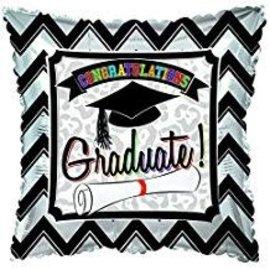 """Congratulations Graduate Square Balloon, 18"""""""