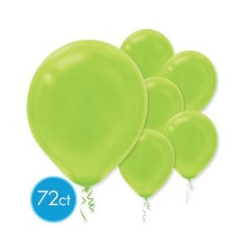 Kiwi Solid Color Latex Balloons - Packaged, 72ct