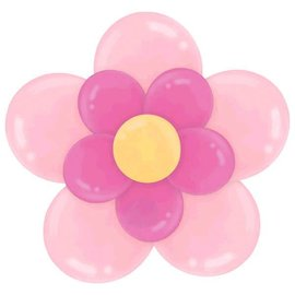 Latex Balloon Kit - Pink Flower