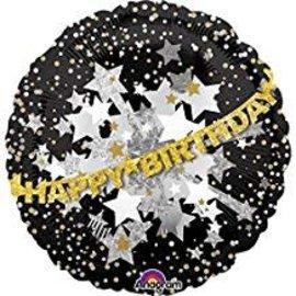 "Happy Birthday Garland Balloon, 32"""