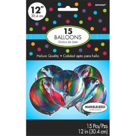 Marble Latex Balloons - Packaged, 15 ct.