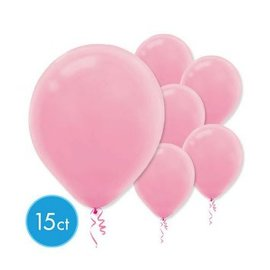 New Pink Solid Color Latex Balloons - Packaged, 15ct