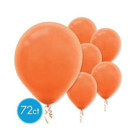 Orange Peel Solid Color Latex Balloons - Packaged, 72ct
