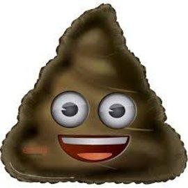 """Poop Emoji Balloon, 32"""""""