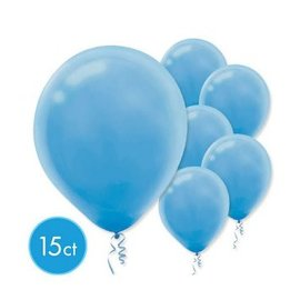 Powder Blue Solid Color Latex Balloons - Packaged, 15ct