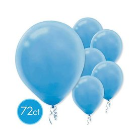 Powder Blue Solid Color Latex Balloons - Packaged, 72ct