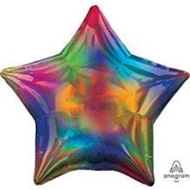 """Rainbow Star Balloon, 19"""""""