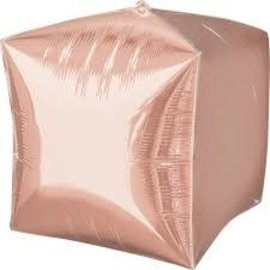 "Cubez Rose Gold Balloon, 15"""