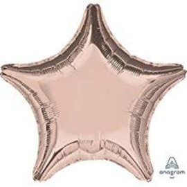 Rose Gold Star Balloon, 19""