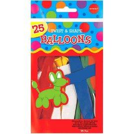 Twist & Shape Latex Balloon Mix, 25 ct.