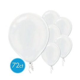 White Pearlized Latex Balloons - Packaged, 72ct