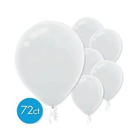 White Solid Color Latex Balloons - Packaged, 72ct