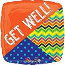 """Get Well Wishes Balloon, 18"""" (#115)"""