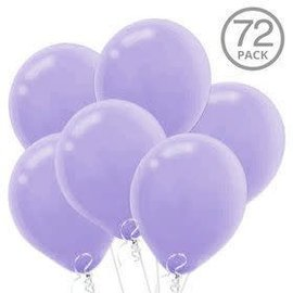 Lavender Solid Color Latex Balloons - Packaged, 72ct