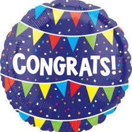 """Congrats Flags Balloon, 18"""" (#159)"""