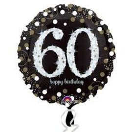 "Sparkling 60th Birthday Balloon, 18"" (#255)"