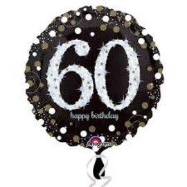 "Sparkling 60th Birthday Balloon, 18"""
