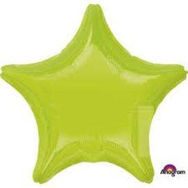 "Kiwi Green Star Balloon, 19"""
