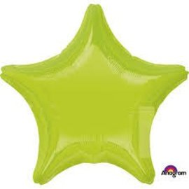 "Lime Green Star Balloon, 19"""