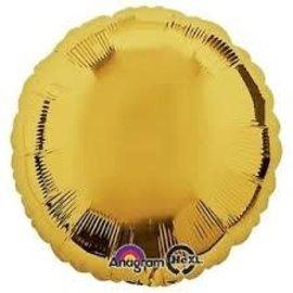 "Metallic Gold Round Balloon, 18"""