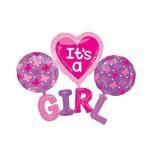 """It's a Girl Balloon, 51""""x40"""""""