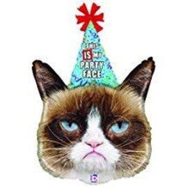 "Grumpy Cat Party Face Balloon, 36"" (#107)"