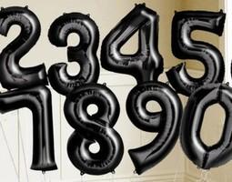 """34"""" Black Numbers"""