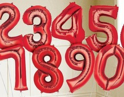 """34"""" Red Numbers"""