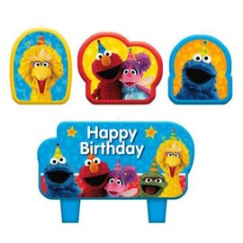 Sesame Street® Birthday Candle Set 4ct