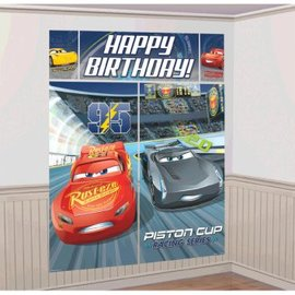 ©DISNEY CARS 3 Scene Setter® Wall Decorating Kit - Clearance