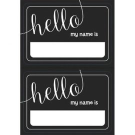 Black & White Chalkboard Look Name Tags 100ct