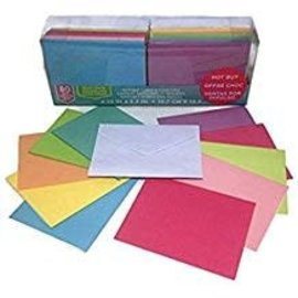Blank Cards and Envelopes, Solid Colors- 80 sets