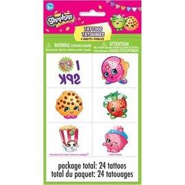Shopkins Tattoo Sheet, 24ct - Clearance