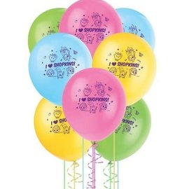"""12"""" Shopkins Balloons, 8ct - Clearance"""