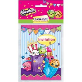 Shopkins Party Invitations, 8ct- Clearance