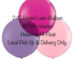 2ft Latex Helium Filled