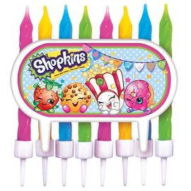 Shopkins Cake Decoration and 8 Candles- Clearance