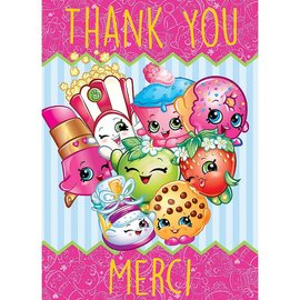 Shopkins Thank You Cards, 8ct - Clearance