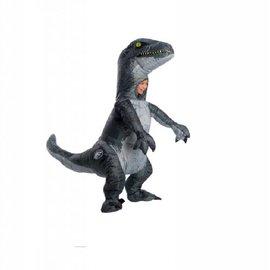 Kids Jurassic World: Fallen Kingdom Velociraptor 'Blue' Inflatable Costume with Sound (#81)